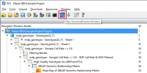 Create a GenomeBrowse window directly from the project navigator