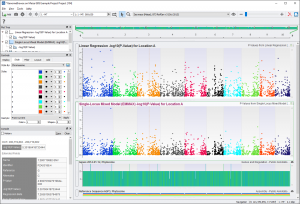GenomeBrowse visualization of results with a clear signal in Chromosome 1