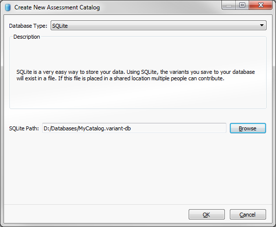 Figure 1: Creating new assessment catalog