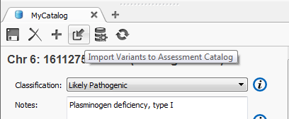 Figure 6: Import options for catalog