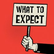 66423349 - poster in hand, business concept with text what to expect, vector illustration