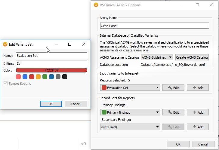 Creating a variant set is required to pull in variants to evaluate with VSClinical.